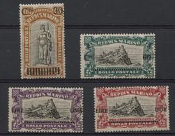 Saint Marin (1924) N 102 A 105 (charniere) - Nuevos