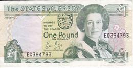 BILLETE DE JERSEY DE 1 POUND DEL AÑO 1989  (BANKNOTE) - Jersey