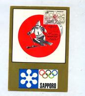 Carte Maximum 1972 Paris Jeu Olympique Sapporo - 1970-79
