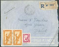 Lettre Recommandée Et Par Avion De NHATRANG 8-6-1950 Vers DalatTB - 18471 - Aéreo