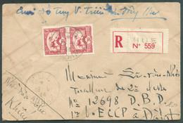 Lettre Recommandée Et Par Avion De HUE 19-6-1944 Vers DalatTB - 18472 - Aéreo