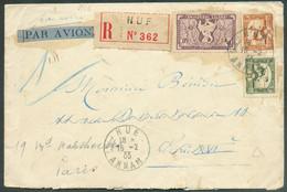 Lettre Recommandée Et Par Avion De HUE 15-2-1933 Vers ParisTB - 18473 - Aéreo