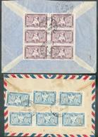 Ensemble De 2 Lettres Recommandées Et Par Avion Rvers Dalat Espectivement De DALAT25-11-1950 Et De TOURANNE 13-10-1950 - Aéreo