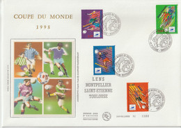 France FDC Grand Format 1996 Coupe Du Monde Football 3010-13 - 1990-1999