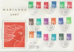 France FDC Grand Format 1997 Marianne De Luquet 3083-3100 - 1990-1999
