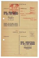 """Ema Illustrée """"B.I.E.R"""" Claies à Ombrer, Stores De Soleil"""" Tournus (71) K 2352, 12.00  Circ 1951, Avec Carte Réponse - EMA ( Maquina De Huellas A Franquear)"""