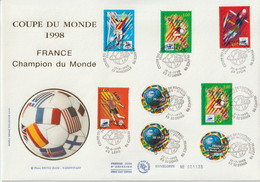 France FDC Grand Format 1998 Coupe Du Monde Football 3170 Et Divers - 1990-1999
