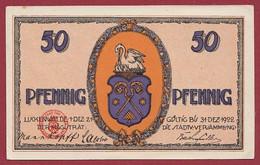 Allemagne 1 Notgeld  De 50 Pf Stadt  Luckenwalde  (RARE) Dans L 'état   Lot N °273 - Colecciones