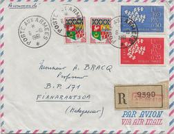 Enveloppe Recommandée Du S.P. 69 410 Pour Fianarantsoa (Madagascar), Poste Aux Armées 1964. - Sellos Militares Desde 1900 (fuera De La Guerra)