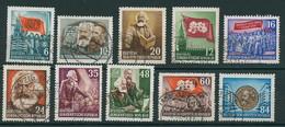 DDR 1953, NR. 344/53 KOMPL. SATZ MARX GESTEMPELT, ALLE WERTE BPP-SIGN., Mi. 45,- - Used Stamps