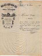 VP18.173 - 1871 - Lettre - Fonderie - Fabrique De Pompes à Incendie ( Pompiers ) A.BOUCHARD à LYON Pour MOIRANS - 1800 – 1899