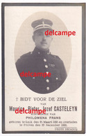 Oorlog Guerre Maurice Casteleyn Roeselare Rijkswacht Gendarme Gesneuveld Oorlogsziekte Opgelopen 1918 Ovl Proven 1930 - Images Religieuses