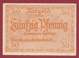 Allemagne 1 Notgeld  De 50 Pf Stadt  Tritlau   ( RARE) Dans L 'état   Lot N °283 - Colecciones