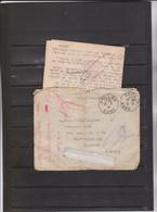 MILITARIA - COMPIEGNE - FRONTSTALAG 122, CAMP DE ROYALLIEU  Corresp Adr En 1942 à Prisonnier Cachets Et Contrôles Courri - Oorlog 1939-45