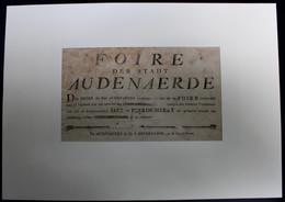 OUDENAARDE - FOIRE DER STADT AUDENAERDE  JAAR XII (1815) DE DE GEWOONELYKE JAER EN PEERDERMERKT 29 X 18 CM  -  ZIE SCANS - Documenti Storici