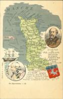 50* Manche - Nos Départements - A Visiter Saint Lo, Avranches - Feuillet - Lot 5 CPA (voir Scan) - Unclassified