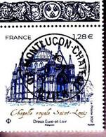 """FRANCE 2021NC -  Timbre Oblitéré Gommé Dentelé """" Chapelle Royale SAINT LOUIS """" (beau Cachet Rond) - 2010-.. Matasellados"""