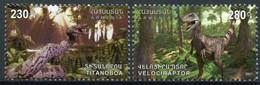 Armenia, 2021, Dinos, 2 Stamps - Prehistóricos
