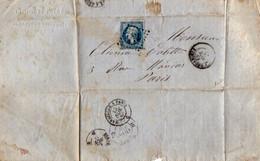 TB 3020 - 1865 - LAC - Lettre De Mrs CAMPAGNE Frères à BEDARIEUX Pour PARIS - 1849-1876: Période Classique