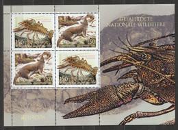 Liechtenstein 2021 Gefährdete Wildtiere EUROPA Krebs Wiesel Block ** Postfrisch - Unused Stamps