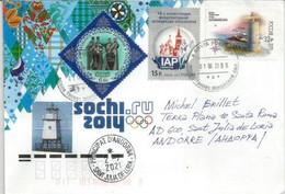 SOCHI 2014., Lettre De Pskov Oblast, Adressée Andorra, Avec Timbre à Date - Inverno 2014: Sotchi