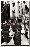 """CPM Semainte Sainte En Roussillon La Procession De La Sanch A Perpignan Le Cortege Des Penitents"""" - Non Classés"""
