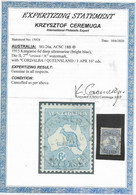 AUSTRALIA 1915 6d BRIGHT BLUE SG 26a FINE USED WITH A CERTIFICATE OF AUTHENTICITY DATED 10/6/2020 - Usados