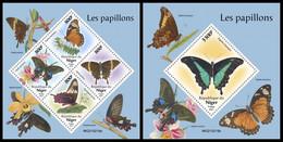 NIGER 2021 - Butterflies. M/S + S/S Official Issue [NIG210219] - Butterflies