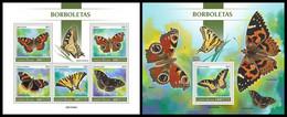 GUINEA BISSAU 2021 - Butterflies, M/S + S/S. Official Issue [GB210206] - Butterflies