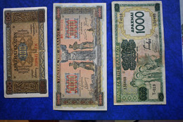 GREECE LOT OF 9 BANKNOTES - Greece