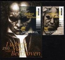Albania - 2020 - 250th Birth Anniversary Of Ludwig Van Beethoven - Mint Stamp + Souvenir Sheet - Albanien
