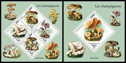 NIGER 2021 - Mushrooms. M/S + S/S Official Issue [NIG210204] - Champignons