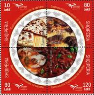 Albania - 2020 - Euromed - Traditional Mediterranean Gastronomy - Mint Stamp Set - Albanien