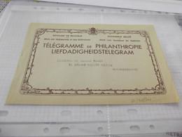 Royaume De Belgique Enveloppe Télégramme Philanthropie - Telegrafo