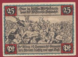 Allemagne 1 Notgeld  De 25 Pf  Stadt   Eisbergen  ( RARE) Dans L 'état   Lot N °304 - Colecciones