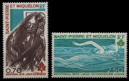 St. Pierre & Miquelon 1976 - Mi-Nr. 519-520 ** - MNH - Olympia Montreal - Nuevos