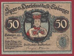 Allemagne 1 Notgeld  De 50 Pf  Stadt   Eisbergen  ( RARE) Dans L 'état   Lot N °305 - Colecciones