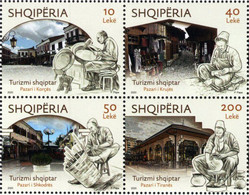 Albania - 2020 - Albanian Tourism - Bazaars - Mint Stamp Set - Albania