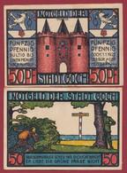 Allemagne 1 Notgeld  De 50 Pf  Stadt   Goch  ( RARE) Dans L 'état   Lot N °315 - Colecciones
