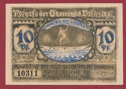 Allemagne 1 Notgeld  De 10 Pf  Stadt   Volkstedt  ( RARE) Dans L 'état   Lot N °320 - Collections