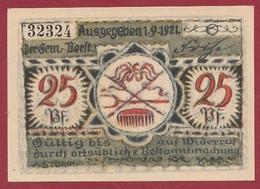 Allemagne 1 Notgeld  De 25 Pf  Stadt   Volkstedt  ( RARE) Dans L 'état   Lot N °321 - Collections