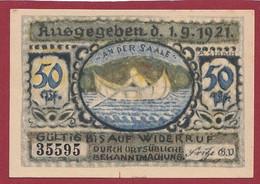 Allemagne 1 Notgeld  De 50 Pf  Stadt   Volkstedt  ( RARE) Dans L 'état   Lot N °322 - Collections