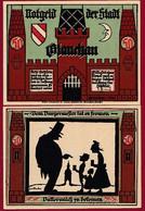 Allemagne 1 Notgeld  De 50 Pf  Stadt  Glauchau  ( RARE) Dans L 'état   Lot N °332 - Collections