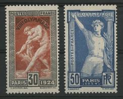 N° 185 + 186 JEUX OLYMPIQUES DE PARIS Neufs Sans Gomme (*) MNG. TB (voir Description) - Unused Stamps