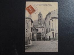 Z35 - 34 - Vue De Saint Gervais Sur Mare - Avenue De La Place - Arrivée De La Diligence - 1908 - Other Municipalities