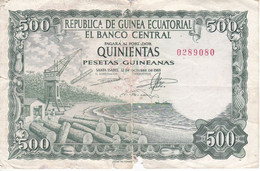 BILLETE DE GUINEA ECUATORIAL DE 500 PESETAS DEL AÑO 1969   (BANKNOTE) - Equatorial Guinea