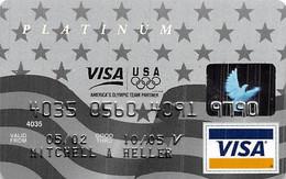 Platinum Olympic Team Partner Visa Credit Card Exp 10/05 - Credit Cards (Exp. Date Min. 10 Years)