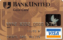 Bank United Gold Card Visa Credit Card Exp 11/03 - Credit Cards (Exp. Date Min. 10 Years)