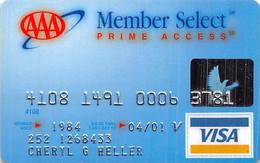 AAA Member Select Prime Access Visa Credit Card Exp 04/01 - Credit Cards (Exp. Date Min. 10 Years)