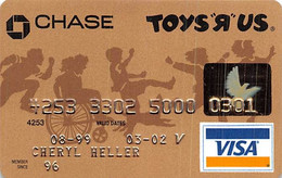 Chase Toys R Us Visa Credit Card Exp 03/02 - Credit Cards (Exp. Date Min. 10 Years)